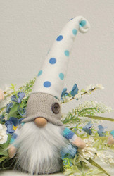 Gnome, Blue Polka Dot Hat