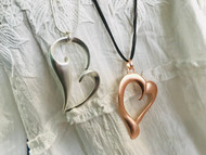 Necklace, Heart Rose Gold