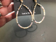 Earrings, Bead Pastel Taupe