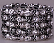 Bracelet, stretch skull, so shiny and sassy, check out the other colors too.  Go Brazen stocks lots of skull fashion, plus size too.