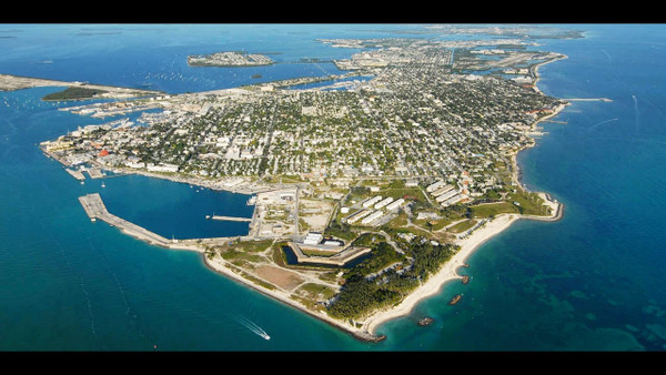 Key West Island from above