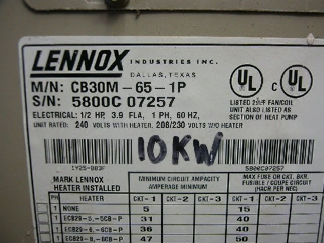 LENNOX Used AC Air Handler CB30M 65 1P