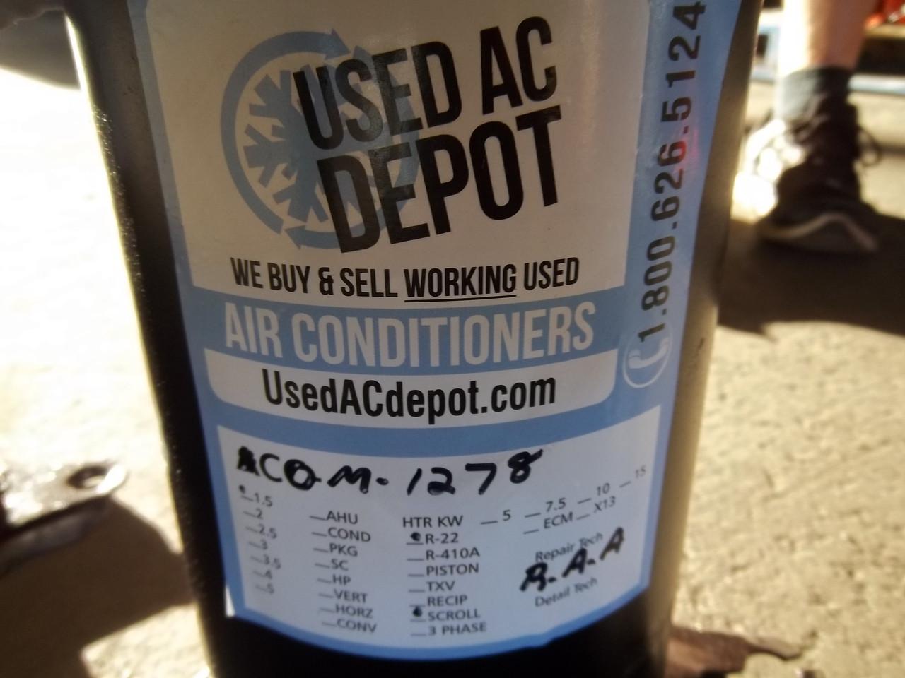 Copeland Used AC Compressor ZR16KA-PFV-130 COM-1278