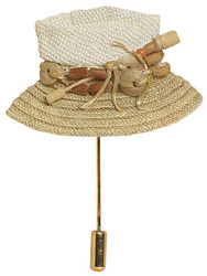 Lock Weave Hat Pin - Harriet Rosebud