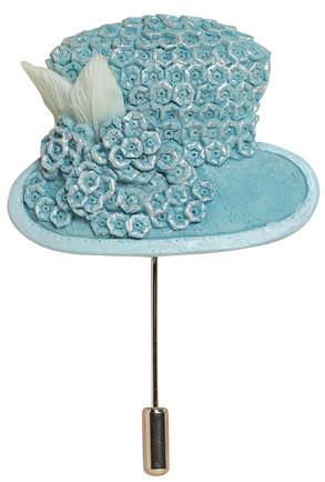 Powder Blue Hat Pin - Harriet Rosebud