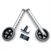 DELUXE Universal Walker 5 Inch Wheel Conversion Kit with FREE FlexFit Ski Glides