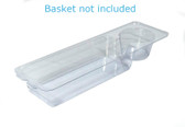Extra-Thick Walker Basket Clear Plastic Insert/Tray/Cup Holder