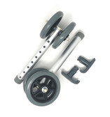 "Heavy Duty Bariatric 5"" Walker Wheel Kit with Free Flexfit Universal Ski Glides"