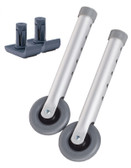 Top Glides 3 Inch Walker Wheels with FREE FlexFit Universal Ski Glides