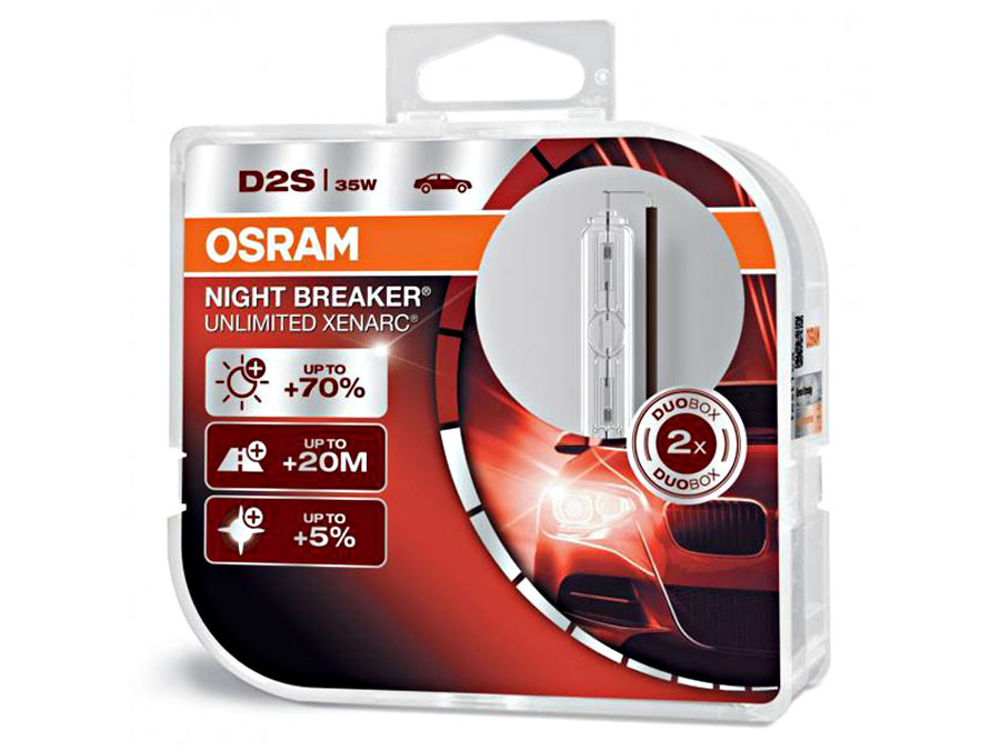 Dual Package of Osram Night Breaker Unlimited D2S