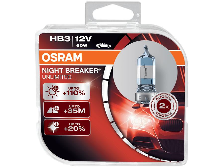 Dual package of Osram Night Breaker Unlimited 9005/HB3