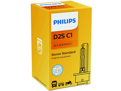 Enclosed Package of Philips D2S Xenon HID Standard OEM headlight bulb with COA Label