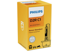 Enclosed package of Philips D2R Xenon HID Standard OEM 4300K 85126C1 headlight bulb with COA Label