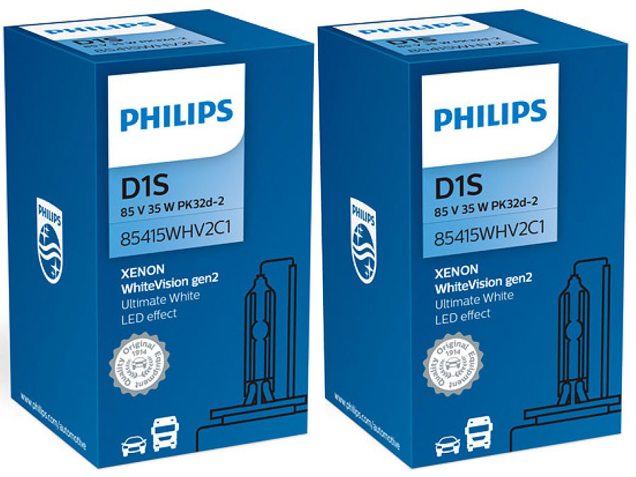 Enclosed packages of Philips White Vision Gen2 D1S