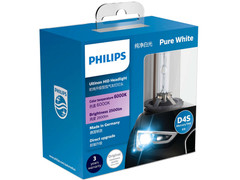 Dual package of PHILIPS Ultinon HID Bulbs 6000K 42402WXX2 D4S
