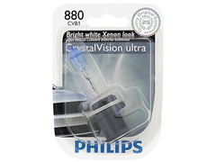 A single package of Philips Crystal Vision 880 halogen bulbs 4000K 880CVB1