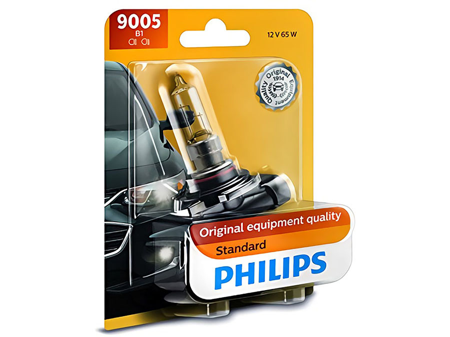 Single package of Philips Standard Halogen bulb 9005B1 9005