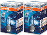Two enclosed package of Osram Cool Blue Hyper HID Xenon headlight bulbs 6000K 66240CBH-HCB D2S