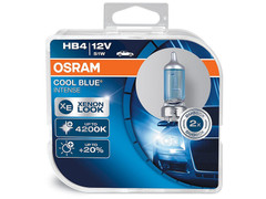 Dual package of Osram Cool Blue Intense halogen bulbs 4200K 69006CBI-HCB HB4/9006