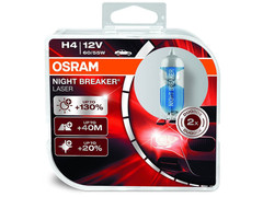 Dual package of Osram Night Breaker Laser +130% halogen bulbs 3200K 64193NBL-HCB H4/9003/HB2