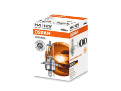 A single package of Osram Original Standard Halogen bulb 64193 H4/9003/HB2