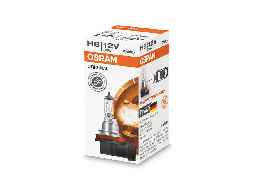 A single package of Osram Original Standard Halogen bulb 64212 H8