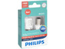 Enclosed package of Philips Ultinon LED Red Interior/Exterior bulbs 1156