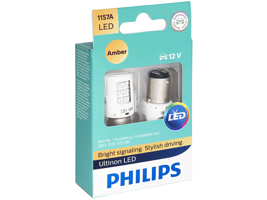 Philips 4114 Ultinon LED Bulb 2 Pack Amber