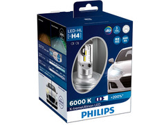 Enclosed package of Philips X-treme Ultinon LED 6000K Headlight Bulbs H4/9003/HB2