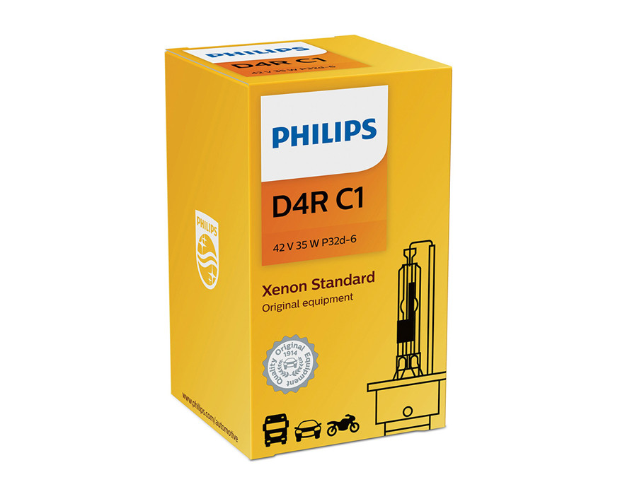 Philips Xenon HID Standard OEM 4300K 42406C1 headlight bulb with COA Label D4R