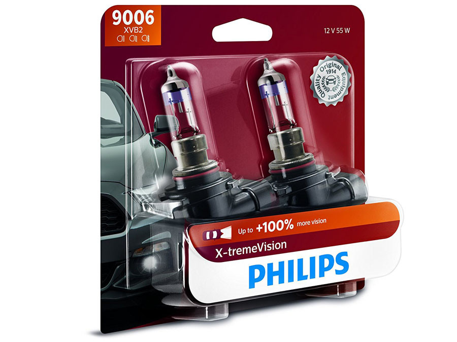 Enclosed package of Philips X-treme Vision +100% 9006/HB4