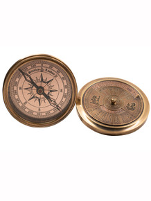 Authentic Models CO031 40-Year Perpetual Calendar Compass, Brass