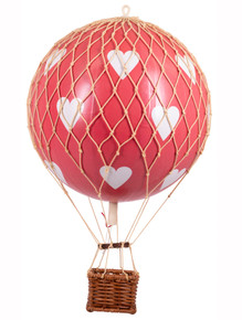 Authentic Models AP161RH Travels Light Helium Balloon Red Hearts
