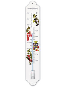 Hokco French Enamel Style Outdoor Thermometer Berries