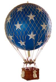 Authentic Models AP163BS Royal Aero Helium Blue Stars Balloon