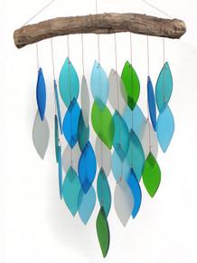 Gift Essentials Blue Handworks Ocean Waterfall Windchime