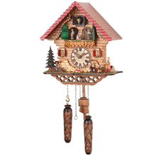 Black Forest Quartz Cuckoo Clock plays 12 Different Melodies & Rotating Dancers