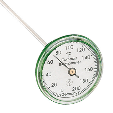 Compost Bin Thermometer 16 inch Stainless Steel Measuring Probe Hokco