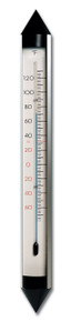 Analog Thermometer Aluminum Silver 18 inch Hokco