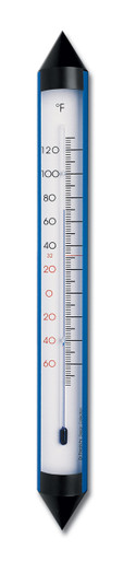 Analog Garden Thermometer Aluminum Electric Blue 18 inch Hokco
