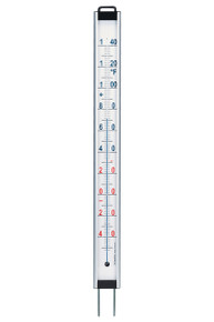 Large Garden Thermometer 48 inch Aluminum Standing Wallmount Hokco