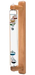 Galileo Wall Mount Thermometer Oak 18 inch