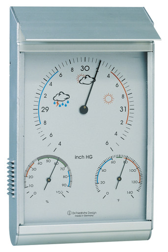 Analog Weather Station Aluminum Android Barometer Hygrometer Hokco