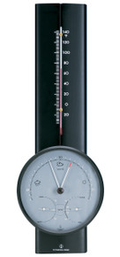 Hokco Weather Station Black Finish Barometer Thermometer Hygrometer