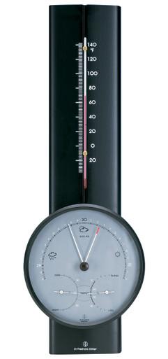 Hokco Weather Station Black Finish Barometer Thermometer Hygrometer