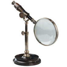 Authentic Models AC099E Magnifying Glass With Stand, Bronzed