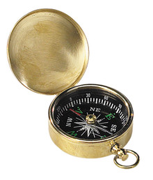 Authentic Models CO002 Pocket Compass Brass