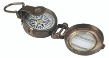 Authentic Models CO014 WWII Replica Brass Pocket Compass open