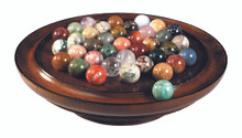 Authentic Models GR022 Solitaire Game Semi-Precious Marbles