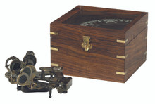 Authentic Models KA032 Sextant In Wood Case